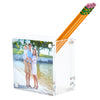 Photo pen holder - clear (double-sided)