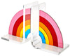 Acrylic mirror rainbow bookends