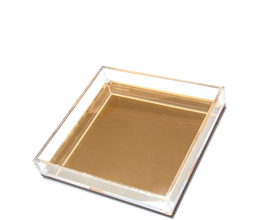 Square Vanity Tray - Gold Mirror