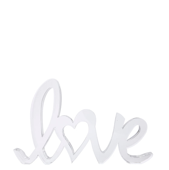 Clear cursive love stand-alone