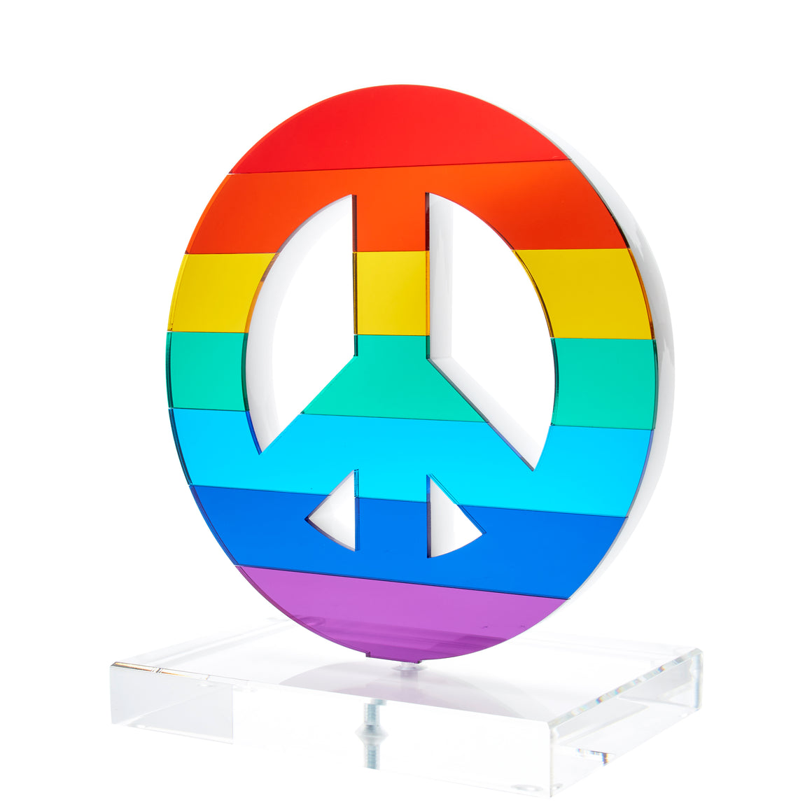 Rainbow Mirrored Peace Sign