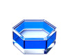 sea glass blue hexagon box, hexagon, acrylic box
