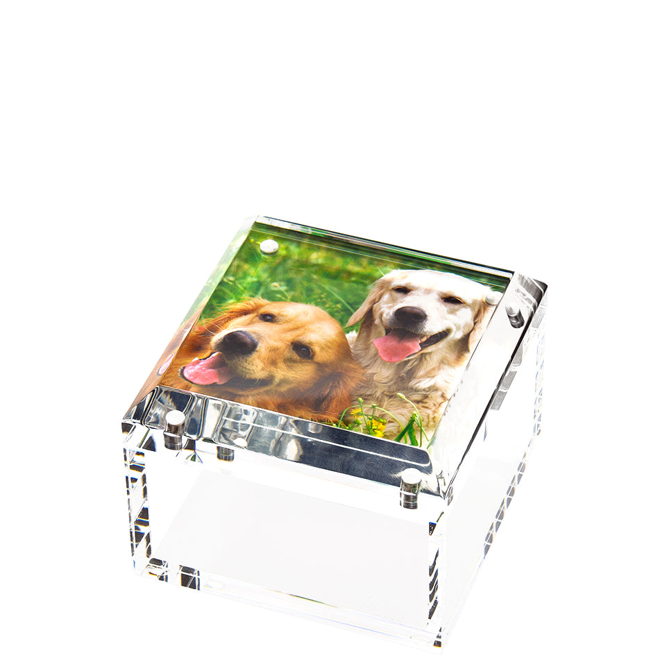 Small photo box - clear - 4 x 4