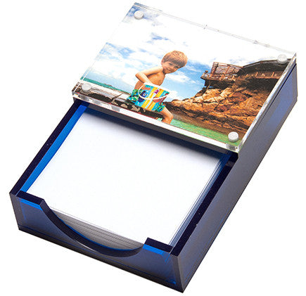 Sea glass blue photo paper holder