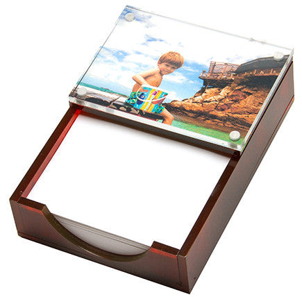 tortoise brown photo paper holder - father's day gift