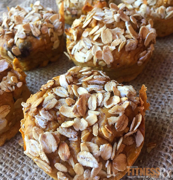 GINA'S PEANUT BUTTER PUMPKIN SPICE TOASTED OAT MUFFINS