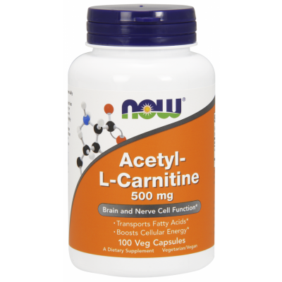 NOW Acetyl L-Carnitine 500 100 ct