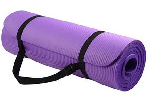 BalanceFrom GoYoga 1/2-Inch Thick Yoga Mat with Carrying Strap