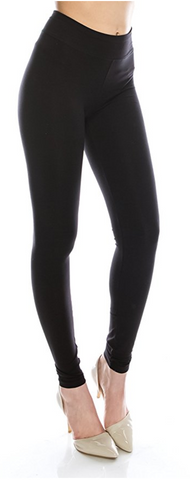 Cotton Spandex Basic Knit Jersey Full Leggings for Women
