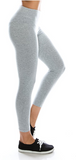 Cotton Spandex Basic Knit Jersey Capri Leggings for Women