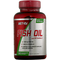General Health - Met-Rx Fish Oil With Vitamin D 90 Soft Gels