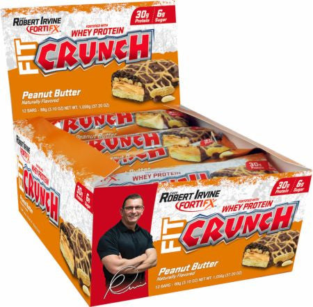 Chef Robert irvine FortiFX FIT Crunch Bars 12 ct - Nutrition Pit Supplement Store