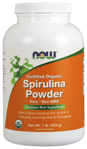 NOW Organic Spirulina Powder 1lb