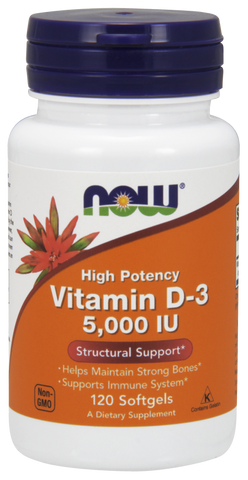 NOW Vitamin D-3 5,000 IU 120 ct