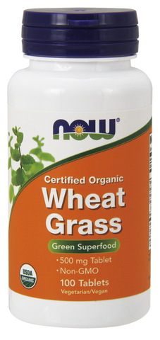 NOW Wheat Grass 500 mg 100 ct
