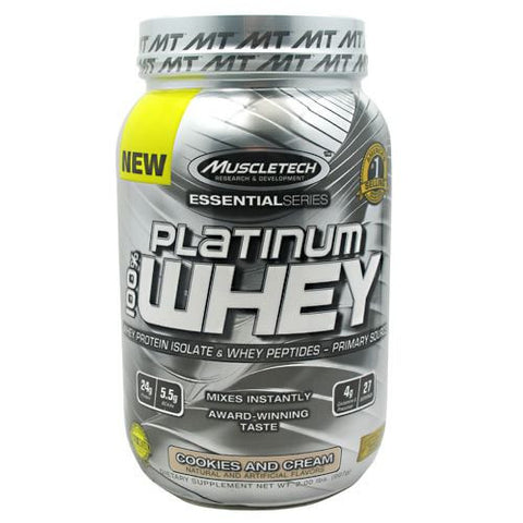 MuscleTech Essential Series 100% Platinum Whey 2 lb