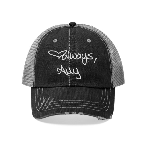 Amy Celebration White - Unisex Trucker Hat