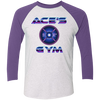 Ace's Gym 1980's Olympic Weight - Unisex Tri-Blend 3/4 Raglan Tee
