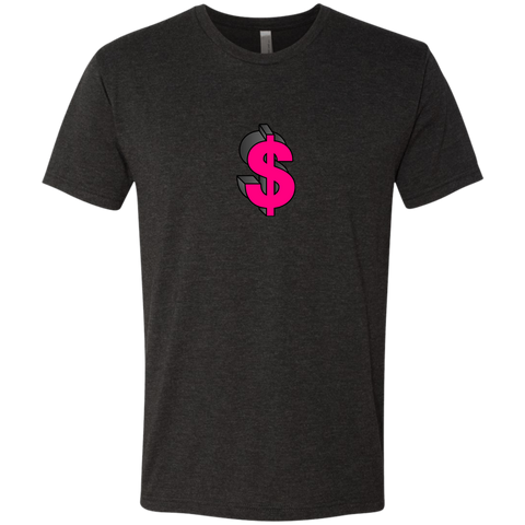 Dollar Sign Pink - NL6010 Next Level Men's Triblend T-Shirt