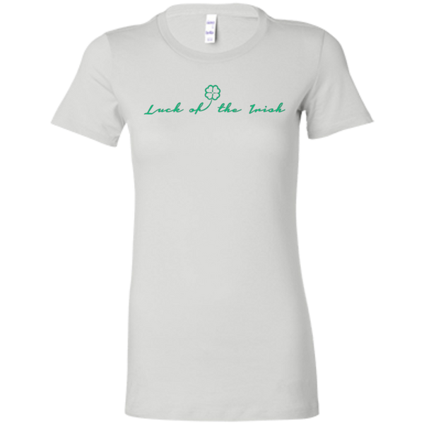 Luck of the Irish Ladies Crew - 6004 Bella + Canvas Ladies' Favorite T-Shirt
