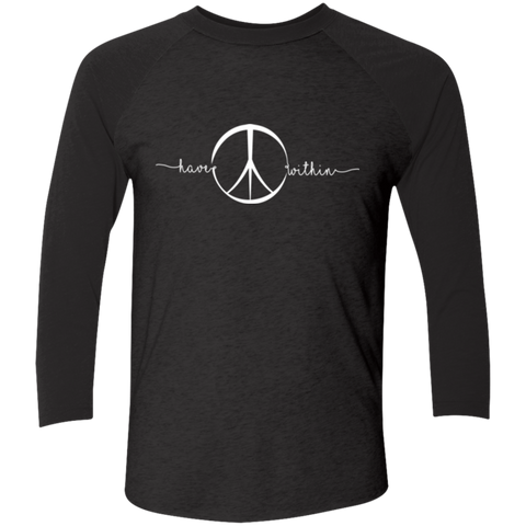 Peace Within - NL6051 Next Level Tri-Blend 3/4 Sleeve Baseball Raglan T-Shirt