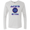 Ace's Gym 1980's Olympic Weight - NL6071 Next Level Men's Triblend LS Crew