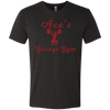 Ace's Gym Girl - Red - NL6010 Next Level Men's Triblend T-Shirt