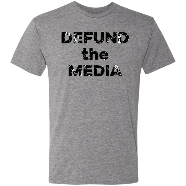 Defund the Media Black Paint Splatter - Unisex Triblend