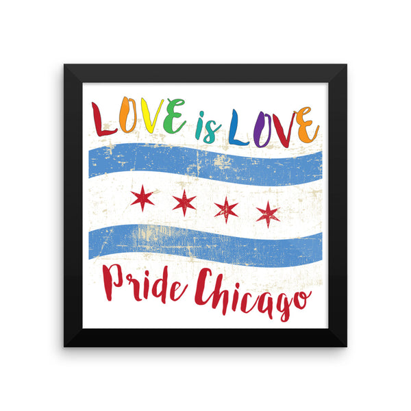 Love is Love Pride Chicago - Framed poster