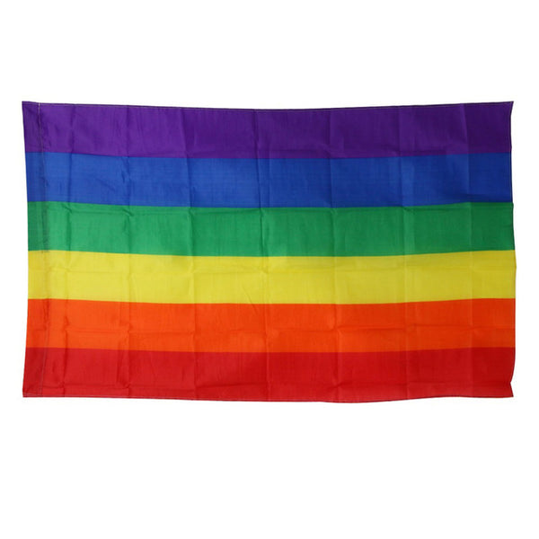 1 Pcs Flags And Banners 3x5FT 90x150cm Lesbian Gay Pride LGBT Flag Polyester Colorful Rainbow Flag For Decoration