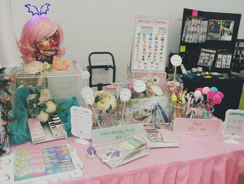 papercute ict Comic Con cute kawaii booth display stationery