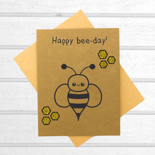 Happy Bee Day - Birthday Card - Papercute