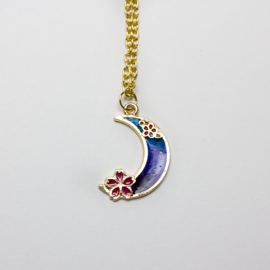 Cherry Blossom Moon Necklace - Papercute