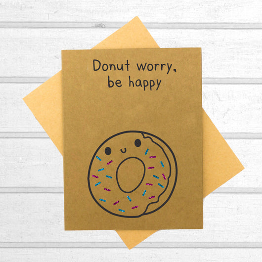 Donut Worry Be Happy Card - Papercute