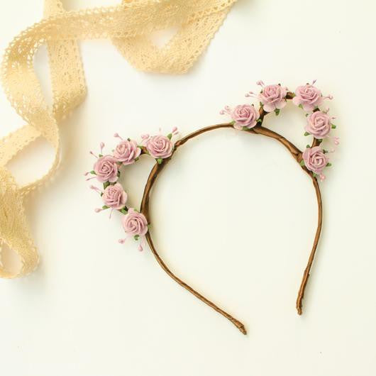 Rose Bear Ears Headband - Papercute