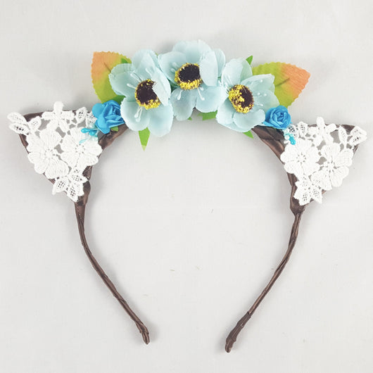 Floral and Lace Cat Ears - Papercute