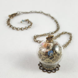 Glass Terrarium Fairy Garden Necklace - Papercute