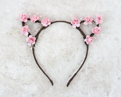 Rose Cat Ears Headband - Papercute