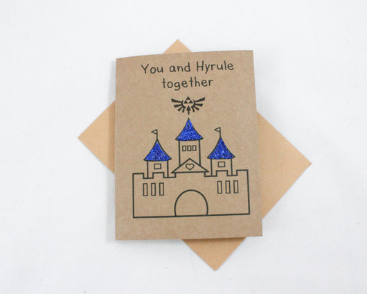 You and Hyrule Together Card - Papercute