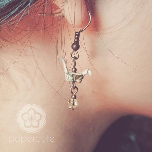 Crane Origami Earrings - Papercute