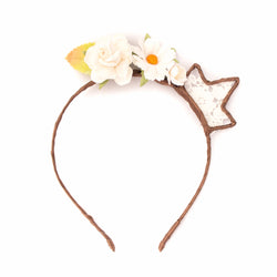 Floral and Lace Mini Crown - Papercute