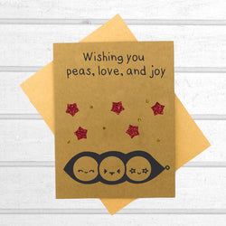 Wishing You Peas, Love, And Joy - Papercute