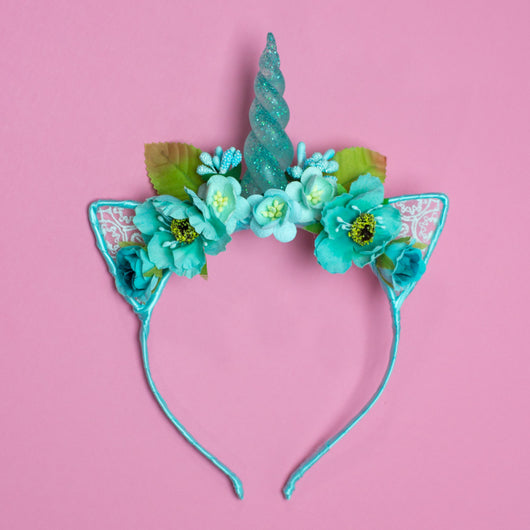 teal unicorn headband