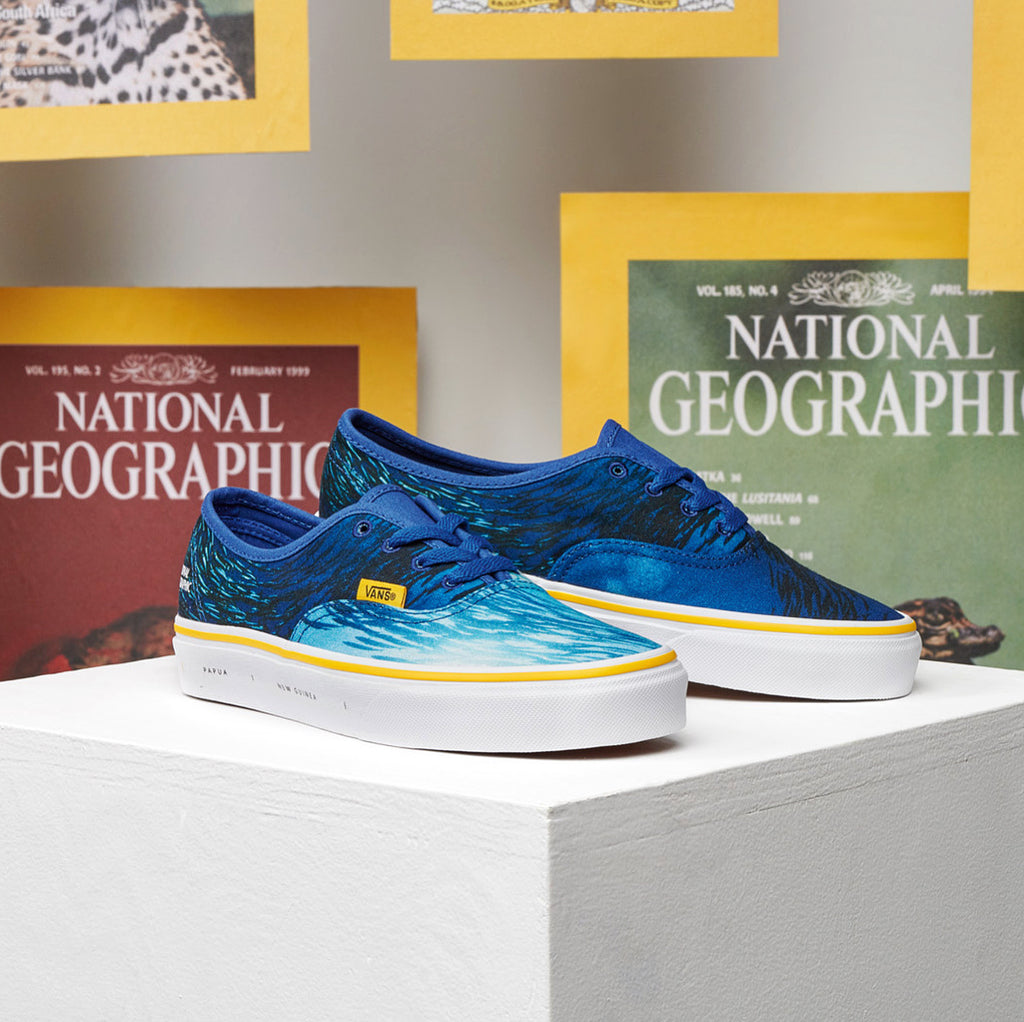 "Vans X National Geographic Authentic ""Oceans"" School Of Fish"