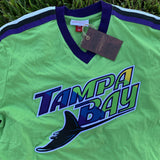 Mitchell and Ness Tampa Bay Ray Overtime V-Neck Tee