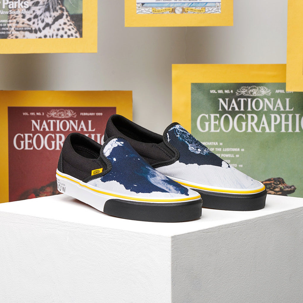 Vans X National Geographic Slip-On Then & Now Glaciers