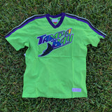 Mitchell & Ness Tampa Bay Rays Overtime Win V-Neck Tee