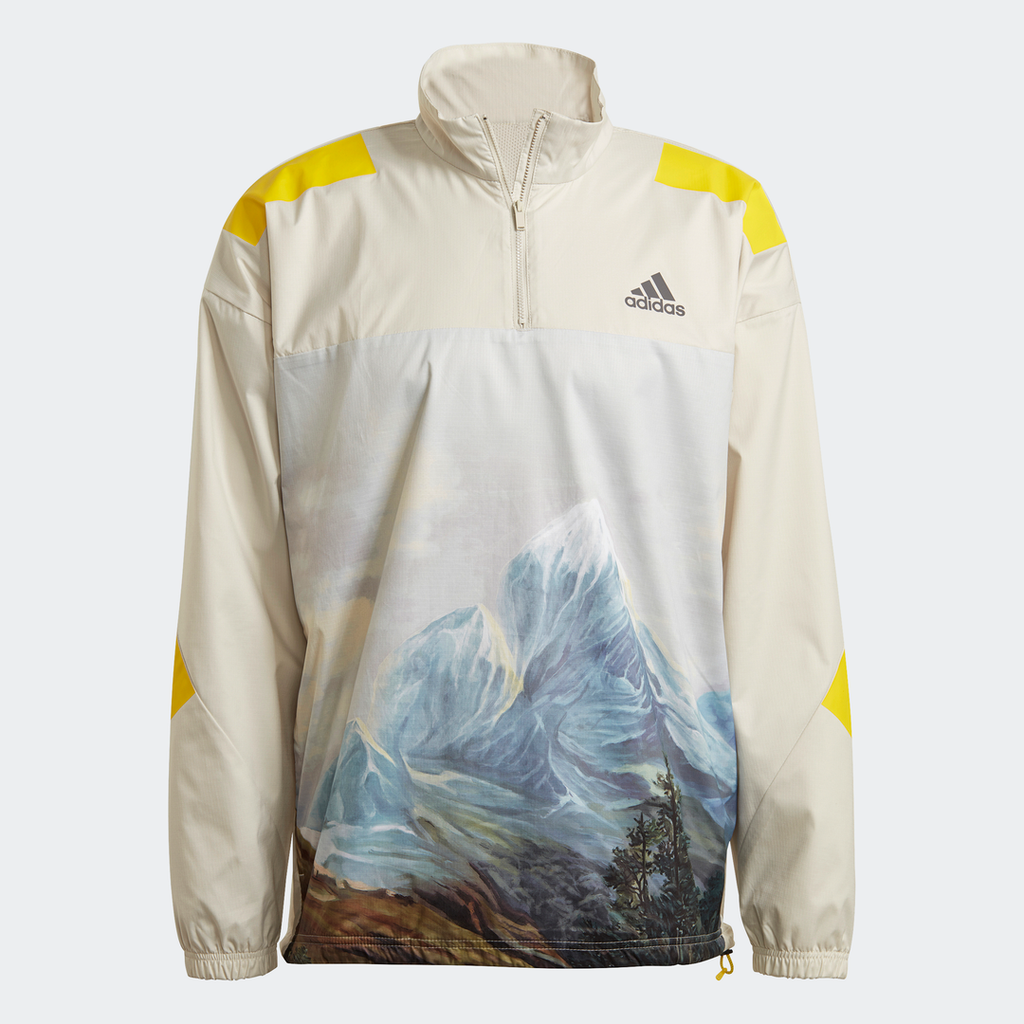 Adidas Street Mountain GRFX Nylon Half Zip Jacket