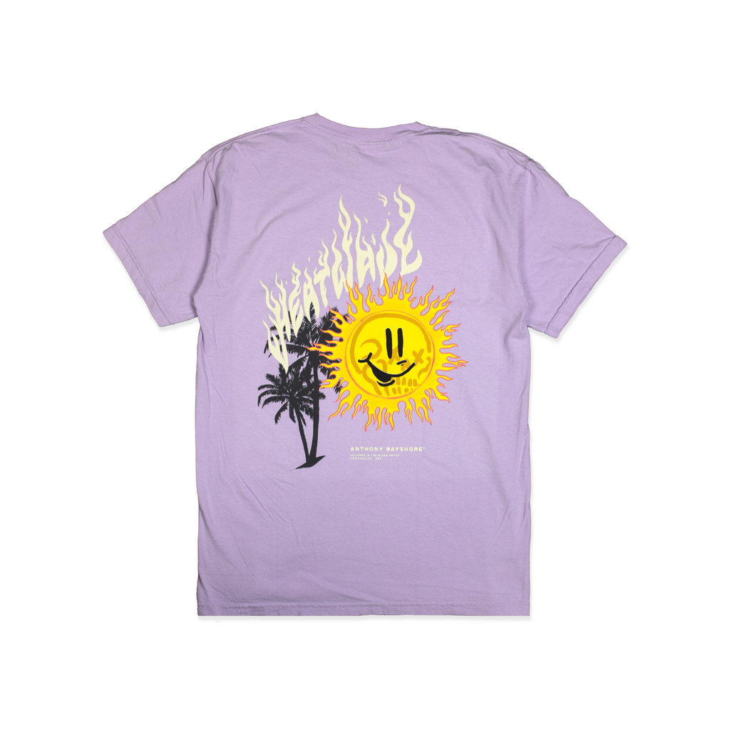 "ANTHONY BAYSHORE X FRESH RAGS ""HEATWAVE"" TEE (ORCHID)"
