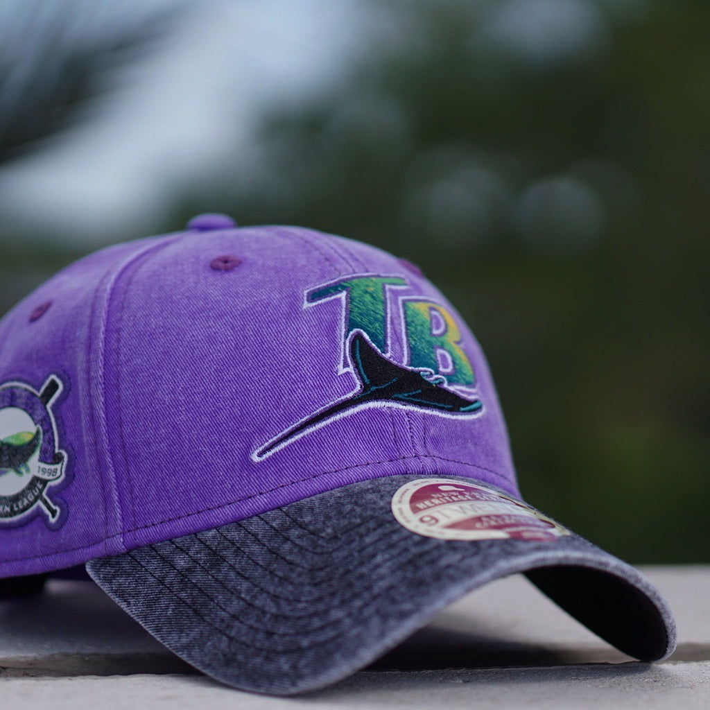 newest 0df99 2722b ... where to buy new era heritage series dad hat tampa bay rays purple  87a2a 3da96